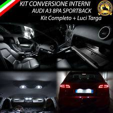KIT LED INTERNI AUDI A3 8PA SPORTBACK COMPLETO + LUCI TARGA NO ERROR 6000K