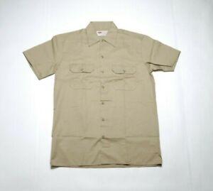 DICKIE'S Men's Short Sleeve Work Shirt 1574KH Khaki