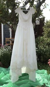 Ivory Wedding Dress With Train - Uk Size 14 - By Forever Yours-Pearl Beading etc