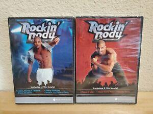 NEW LOT OF 2 ROCKIN BODY (DVD 2013) BEACHBODY SHAUN 7 WORKOUTS FACTORY SEALED