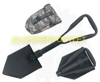 NEW US Military Entrenching Tool Trifold Folding E-Tool Shovel & ACU Cover AMES