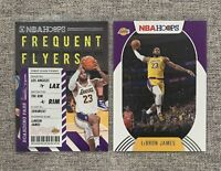 🔥2020-21 NBA Hoops LEBRON JAMES Frequent Flyers ✈️ + Base Lakers Lot