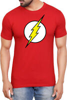 The Flash Logo T-Shirt,Superhero DC Comics Batman Justice League Superman Top