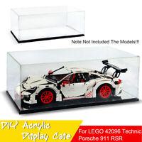 DIY Acrylic Display Case For LEGO 42096 Technic Porsche 911 RSR Toy 60x30x20cm