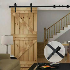 6Ft Sliding Barn Door Hardware Kit Heavy Duty Single Door Track for Tv Stands