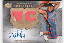 WILSON CHANDLER 07-08 UD Chronology AUTO RC Stitches in Time 6/25  2 COLOR PATCH