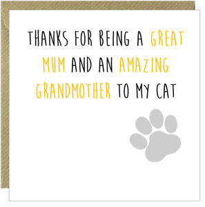 Funny Happy Mothers Day Card Mum Rude Humorous Comical Mam Square Cat  /CK