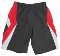 Speedo Swimming Shorts Trunks Stampa Boys Red Black XSM S M L XL
