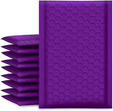 Ucgou Bubble Mailers 4x8 Inch Purple 50 Pack Poly Padded Envelopes Small Busines