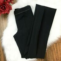 Seed Women's Black Dressy Draped Slim Fit Career Work Side Zip Pants Size 6