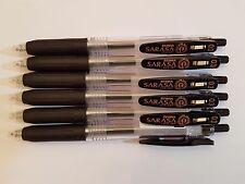 Zebra Sarasa Push Clip Gel Ink Pen - 0.3mm (6 black pens)