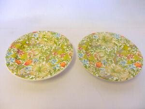 set of 2 William Morris golden lily design china coasters