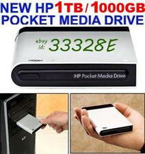 NEW HP 1TB _ 1000GB POCKET MEDIA DRIVE USB EXTERNAL 2 YEAR WARRANTY MSRP  $729+