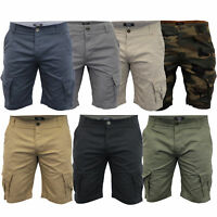 Mens Cargo Chino Shorts Threadbare Combat Knee Length Westace Military Summer