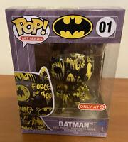 Batman Funko Pop #01 Art Series Black Yellow Target Exclusive