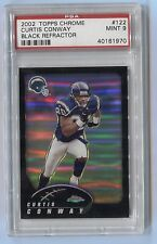 2002 Topps Chrome Black Refractor PSA 9 Mint /599 Curtis Conway Chargers