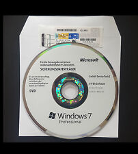 Windows 7 pro  COA Product Key & Hologramm DVD Vollversion 64 Bit Orignal MS