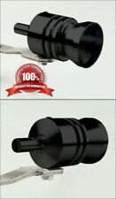 BLACK Car Exhaust Muffler Pipe Whistle Turbo Sound Fake BlowOff Simulator M