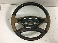 10-13 Mercedes W221 CL550 S550 Steering Wheel Beige Wood w/Paddle Shifters OEM