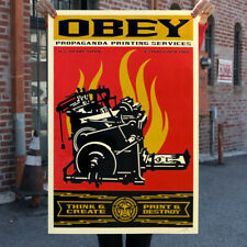 Shepard Fairey (Obey) PRINT AND DESTROY 2019