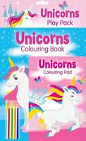Unicorn Play Pack Colouring Book Fun Activity Pad Colour Pencils Party Bag 3050