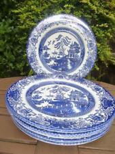 Ironstone Blue Pottery Dinner Plates