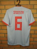 Iniesta Spain Jersey 2017 2018 Away S Shirt BR2697 Soccer Football Adidas Trikot