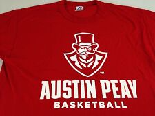 4ea31b8b2 Austin Peay Basketball T-Shirt Mens Large Red Tee Governors University  Tennessee