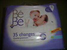Lot de 6 paquets de 35 changes pour bébé non déballées 3-6 kg taille 2