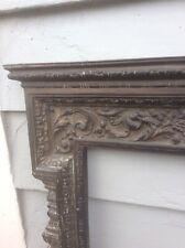 ANTIQUE ORNATE VICTORIAN CAST Bronze Brass FIREPLACE FRAME SURROUND Mantel