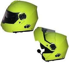 VIPER RS-V151 BLUETOOTH BLINC FLIP FRONT HELMET size MED  WITH FREE BIKE COVER