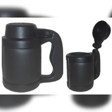 Black Can Cooler Beverage Insulator Flip-Top Can Stein 12 oz.