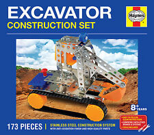 EXCAVATOR / DIGGER CONSTRUCTION SET HAYNES STAINLESS STEEL (JCB Meccano Like)