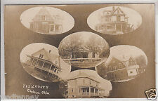 RPPC - Chelsea, OK - 6-photo collage postcard - 1909