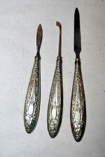 Antique G (Germany) Silver Manicure Set of 3 Rare!