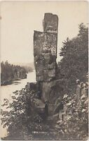 Minnesota Mn Real Photo RPPC Postcard 1920 TAYLOR FALLS Devil's Chair Rock River