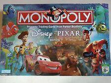 Monopoly Disney Pixar Edition Board Game Complete Lightning McQueen Nemo Remy