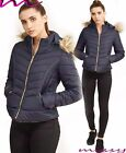 NEW WOMENS LADIES QUILTED WINTER COAT PUFFER JACKET PARKA SIZE 8,10,12,14,16 WRE