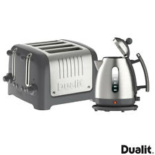 Dualit Lite Kettle, 4 Slot Toaster Set Grey 10126 Christmas Gift For Her Kitchen