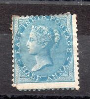 India 1865 1/2A blue mint spacefiller WS5825
