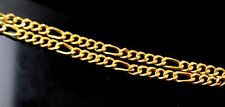 22CT FIGARO LINK CHAIN HANDMADE UNISEX JEWELRY BEST GIFT FOR MOTHER'S DAY