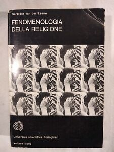 FENOMENOLOGIA DELLA RELIGIONE di Gerardus Van der Leeuw 1975 Boringhieri