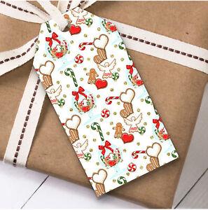 Gingerbread Men Christmas Gift Tags (Present Favor Labels)