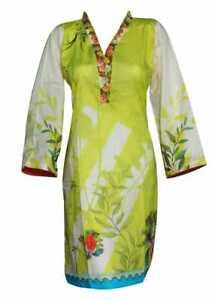 Women Indian Kurti Ladies Kurta Cotton Digital Print Tunic by Sufia Fashions