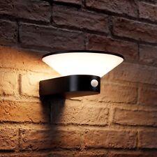 Auraglow Black Integrated LED PIR Motion Sensor Wall Light with Override