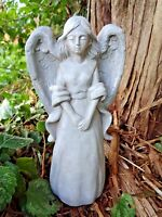 "Latex angel mold plaster concrete casting mould  9""H x 4""W"