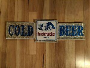 """Ruppert Knickerbocker 28"""" Cold Beer Sign Bar Advertisement"""