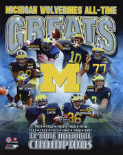 MICHIGAN WOLVERINES All-Time Greats Glossy 8x10 Photo College Football Poster