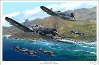 VF-17 Jolly Rogers F4U Corsair WW II Aviation Art Print