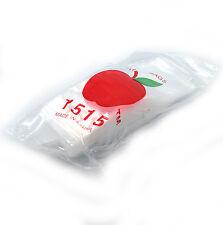 """New 100 APPLE BRAND BAGS 1.5x1.5 2mil CLEAR ZIPLOCK BAGS  baggies 1.5"""" 1515 15"""